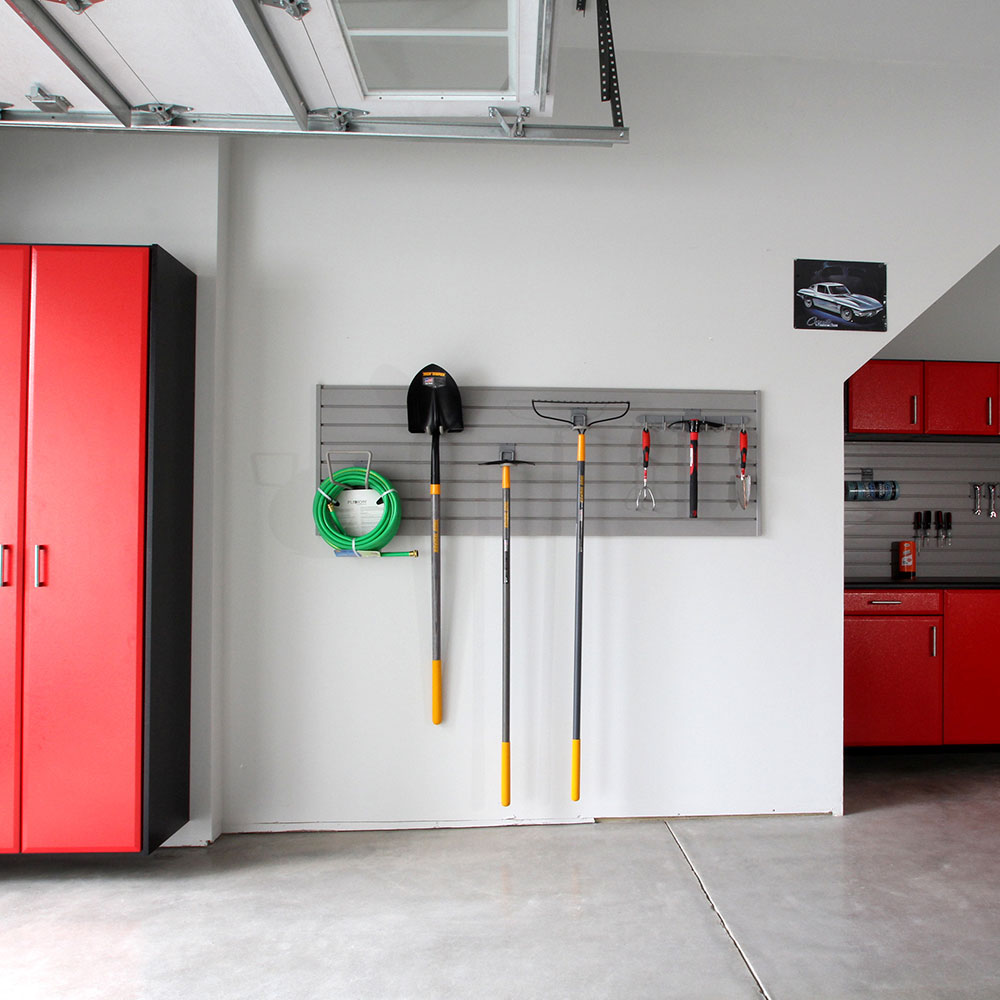Custom Garage Cabinets And Slatwall Garage Storage Solutions