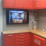 Custom Garage Cabinets Coca-Cola Themed Cabinets with TV