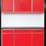 Custom Garage Cabinets Red and Black