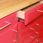 Custom Garage Cabinets Red Drawers