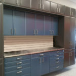 Custom Garage Cabinets Blue and Black Storage Solutions