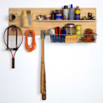 Slatwall Garage Storage Sports and Cleaning Supplies