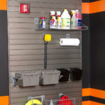 Slatwall Garage Storage Grey Cleaning Supply Storage