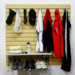 Slatwall Garage Storage Clothing