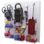 Slatwall Garage Storage Kids Toys and Strollers