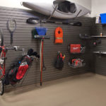 Slatwall Garage Storage Canoe and Other Sporting Gear