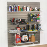 Slatwall Garage Storage Cleaning Tools